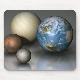 The Four Terrestrial Planets Mouse Pad