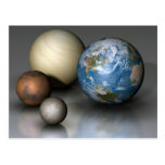 The Four Terrestrial Planets Postcard