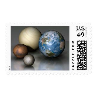 The Four Terrestrial Planets Stamp