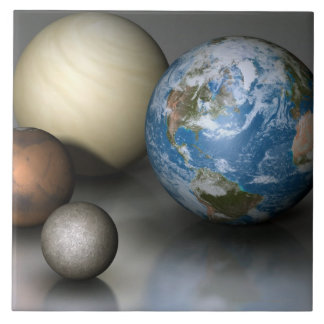 The Four Terrestrial Planets Ceramic Tiles