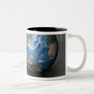 The Four Terrestrial Planets Two-Tone Coffee Mug