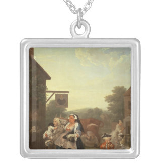 The Four Times of Day: Evening, 1736 Silver Plated Necklace