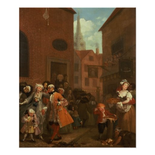 The Four Times of Day: Morning, 1736 Poster