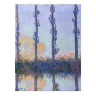 The Four Trees - Claude Monet Postcard