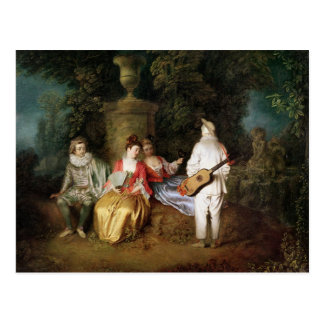 The Foursome, c.1713 Postcard
