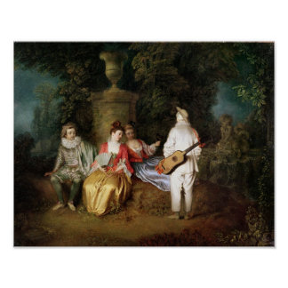 The Foursome, c.1713 Poster