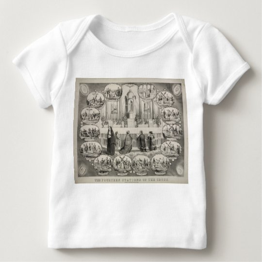 The Fourteen Stations of the Cross by J.L. Giles Baby T-Shirt