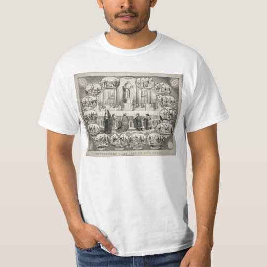The Fourteen Stations of the Cross by J.L. Giles T-Shirt