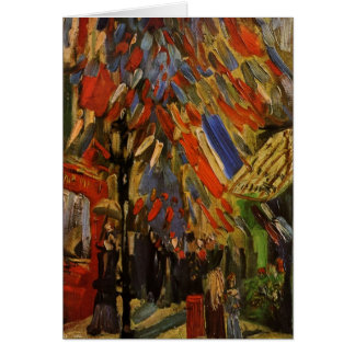 The Fourteenth of July Celebration in Paris Card