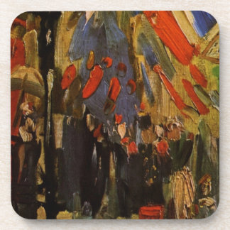 The Fourteenth of July Celebration in Paris Drink Coaster