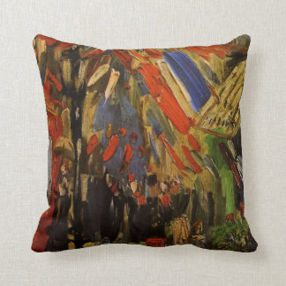 The Fourteenth of July Celebration in Paris Throw Pillow