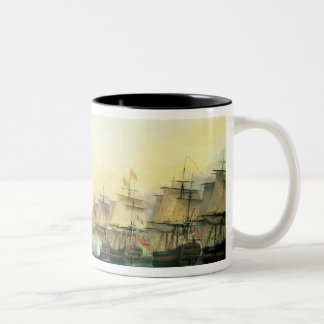 The fourth action off Trincomalee Two-Tone Coffee Mug