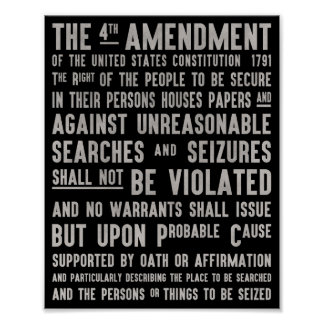 The fourth amendment right to privacy poster