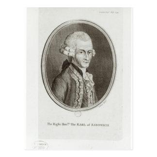 The Fourth Earl of Sandwich Postcard