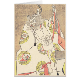 The Fourth Ichikawa Danjuro in the Role of Otomo Greeting Cards