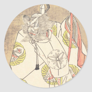 The Fourth Ichikawa Danjuro in the Role of Otomo Classic Round Sticker