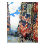 """The Fourth of July""  by Childe Hassam Postcards"