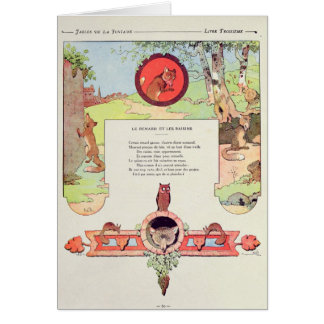 The fox and the grapes card
