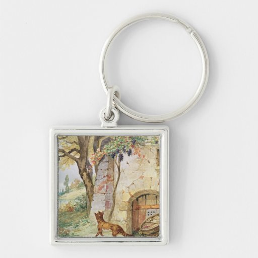 The Fox and the Grapes, illustration for Key Chain