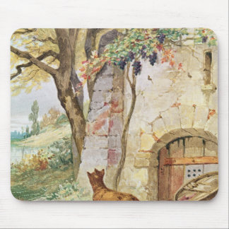 The Fox and the Grapes, illustration for Mouse Pad