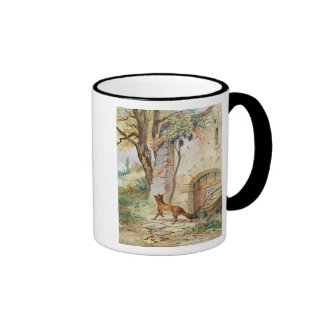 The Fox and the Grapes, illustration for Ringer Mug