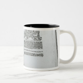 The Fox and the Grapes Two-Tone Coffee Mug