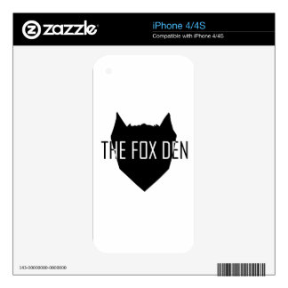 """""""The Fox Den"""" Decals For iPhone 4"""