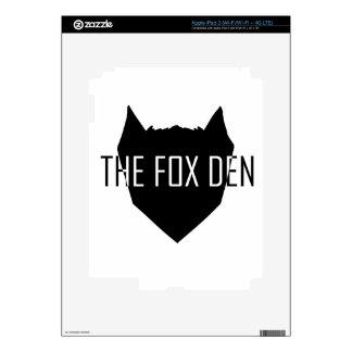 """The Fox Den"" iPad 3 Decal"