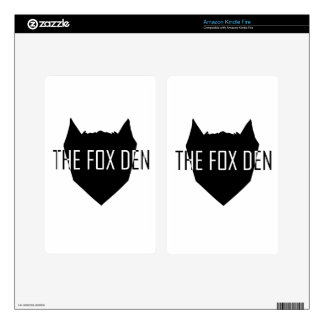 """The Fox Den"" Kindle Fire Decal"