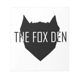 """The Fox Den"" Notepad"