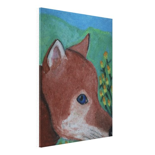 The Fox Drawing by Julia Hanna zazzle_wrappedcanvas