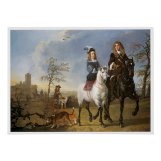 The Fox Hunt England Vintage Art Print Poster
