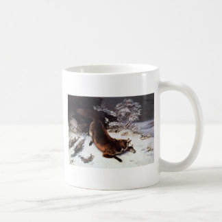 The Fox in the Snow by Gustave Courbet Coffee Mug