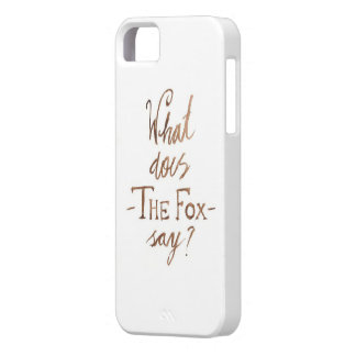 The Fox is on the phone iPhone SE/5/5s Case