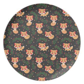 The Fox Pattern Dinner Plate