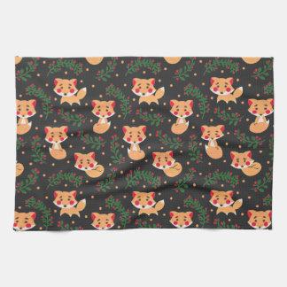 The Fox Pattern on Kitchen Towel Illustration by Haidi Shabrina