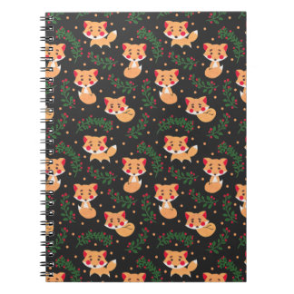 The Fox Pattern on Note Book Illustration by Haidi Shabrina