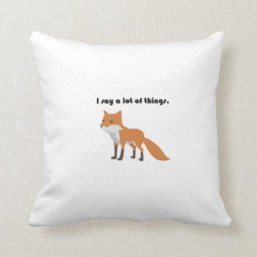 The Fox Says Cartoon Throw Pillows