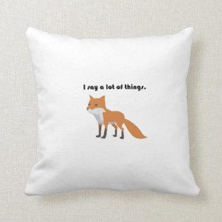 The Fox Says Cartoon Throw Pillow