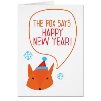 the Fox says Happy New Year! Card