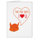 the Fox says I love you! Cards