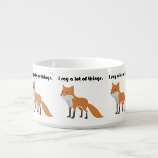 The Fox Says Internet Meme Cartoon Bowl