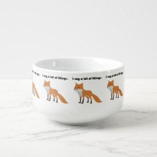 The Fox Says Internet Meme Cartoon Soup Bowl With Handle