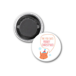the Fox says Marry Xmas! Magnet