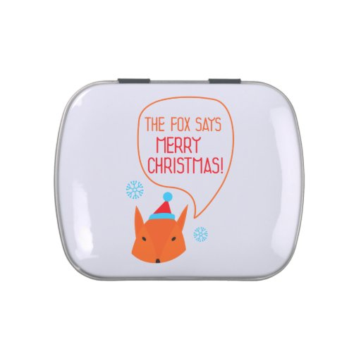 The Fox says Merry Christmas! Jelly Belly Tin