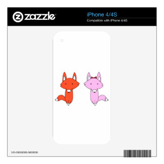 The Fox Shirt iPhone 4 Decal