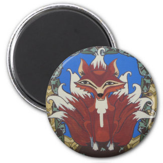 The fox with nine tails magnet