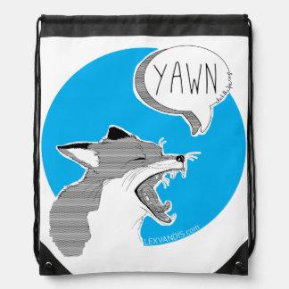 the Fox *Yawn* - blue Cinch Bag