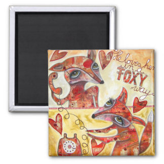 The Foxy Way Magnet