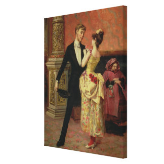 The Foyer of the Lyceum Theatre (oil on canvas) Canvas Print